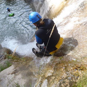 Canyoning in the Alps - on a natural slide
