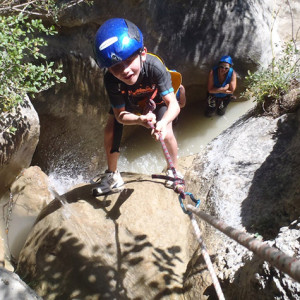 Kiddie Canyon - abseiling