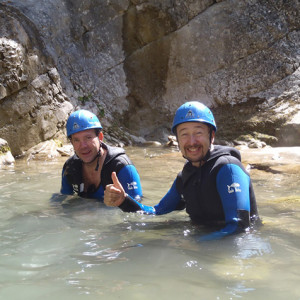 Canyoning - happy canyoners