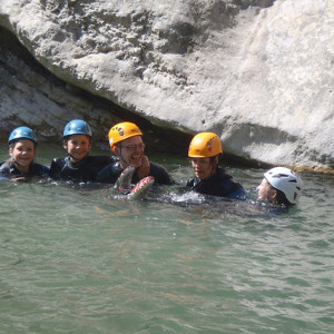 Canyoning and enjoying the pool