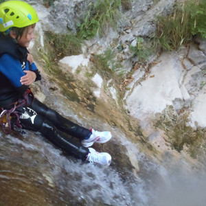 canyoning the perfect toboggan position