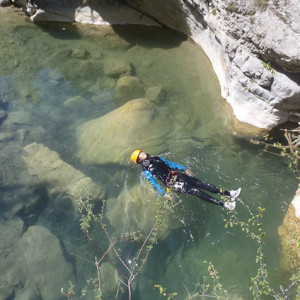 Canyoning and basking in the pool