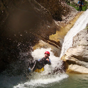 Canyoning a natural toboggan