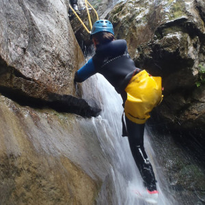 Canyon abseiling