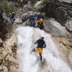 Canyoning in a waterfall Sale Sharks