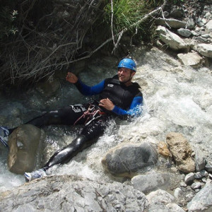 Ben Cohen chilling in a canyon in the Alps