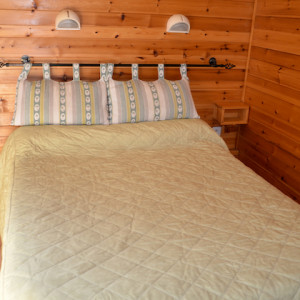 Chamois Hotel double bedroom