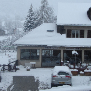 Chamois Hotel in winter