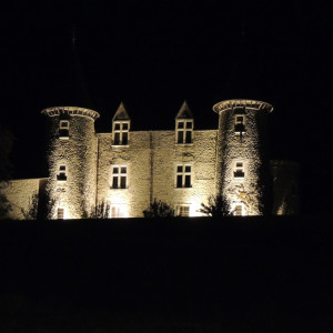 Chateau Picomtal in the Southern French Alps at night