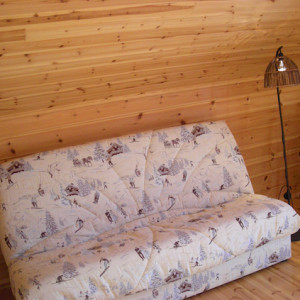 The Counit Chalet near Orcieres ski resort in the Alps sofa bed
