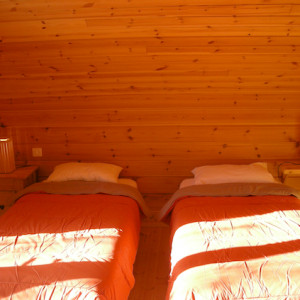 The Counit Chalet near Orcieres ski resort in the Alps twin room
