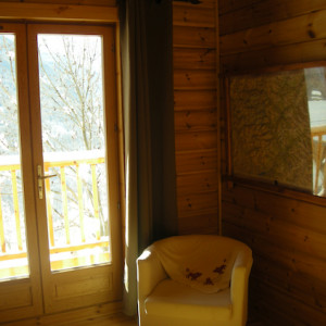 The Counit Chalet near Orcieres ski resort in the Alps chair