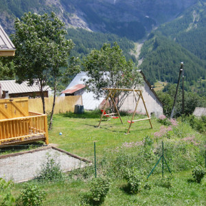 The Counit Chalet near Orcieres ski resort in the Alps garden