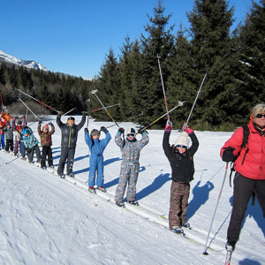 Cross country skiing kids lesson
