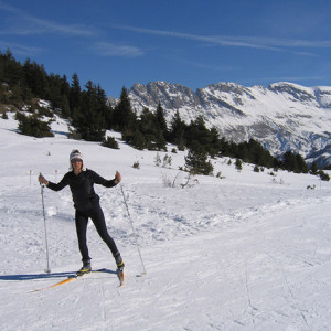 Cross country skiing in Devoluy