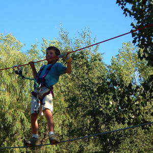 High Ropes Adventure on the wires