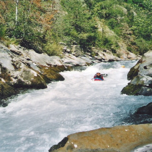hydrospeed in the Alps on the river Bonne