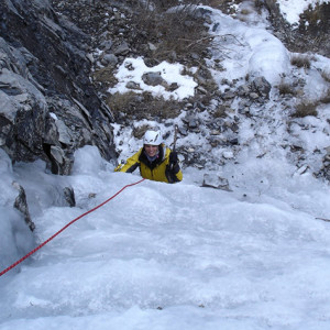 Ice Climbing from above