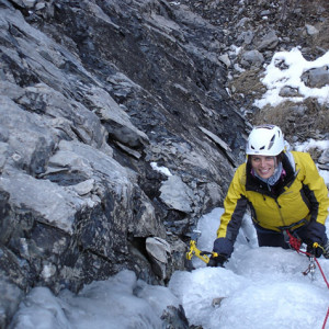 Ice Climbing Sally