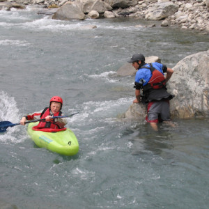 Kayaking beginners course in the Alps