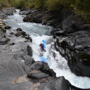 Kayaking white water in the French Alps la bonne