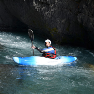 Kayaking in the French Alps