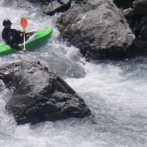 Kayaking in the Alps on the intermediate paddling trip