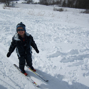 Cross country skiing age 3