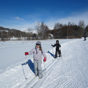 Cross Country skiing kids learning