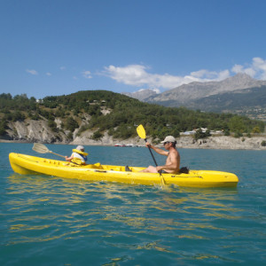 Lake Kayaking on the Lac du Serre Poncon in the ka