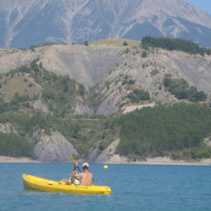 Lake Kayaking on the Lac du Serre Poncon - view mo