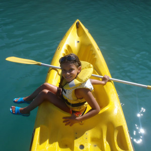 Lake Kayaking on the Lac du Serre Poncon - girl si