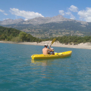 Lake Kayaking on the Lac du Serre Poncon - lake vi