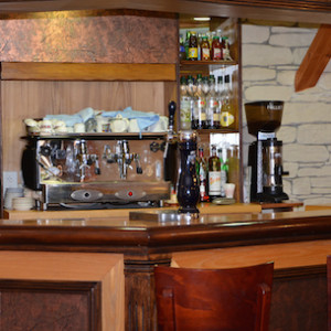 Bar in the Chenets hotel in Alps Champsaur