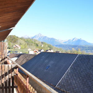View from Les Chenets Hotel in the Alps Champsaur Valley