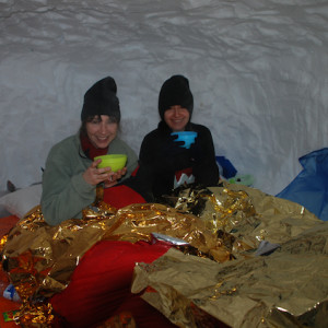 Inside the igloo in Orcieres Igloo Village