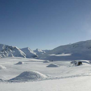 The Igloo Village in orcieres in the Alps