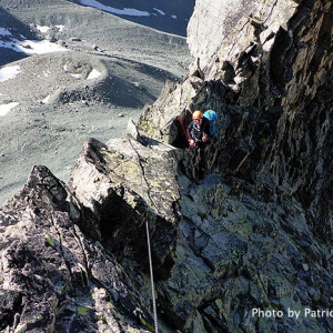 Pointe des Cineastes in the Ecrins the ridge