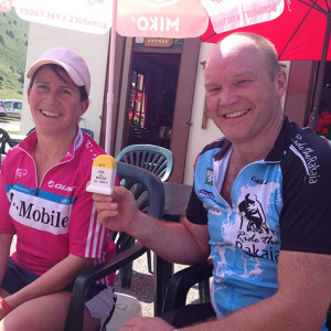 Road cycling conquest of col du noyer