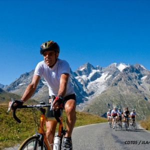 Road cycling in the French Alps near Gap