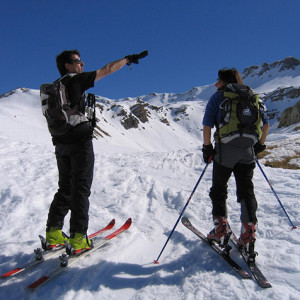 Ski Touring and picking out the summits