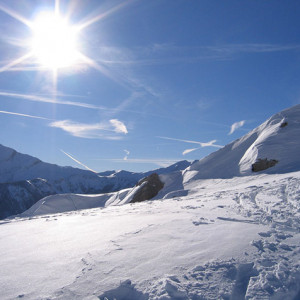 Beautiful views ski touring in the Champsaur