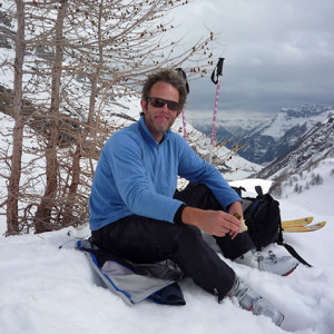 Rest ski touring in the Ecrins