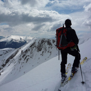 SKi Touring and admiring the view in les Monges