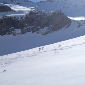 Ski touring in he French Alps