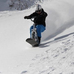 Snowscoot in the Champsaur