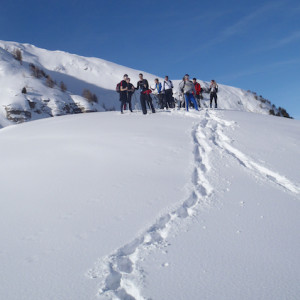 Snowshoeing on way up to Pourachierre in the South