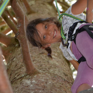 Tree Climbing - Annie looking down
