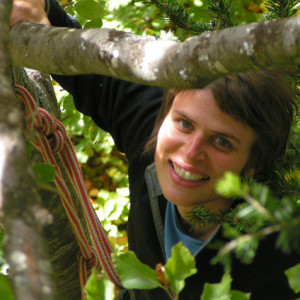 Tree Climbing  face in tree with leaves