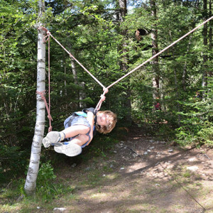 Tree climbing - rope swing